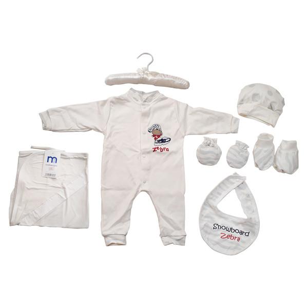 ست لباس نوزادی مادرکر مدل Zebra هفت تکه