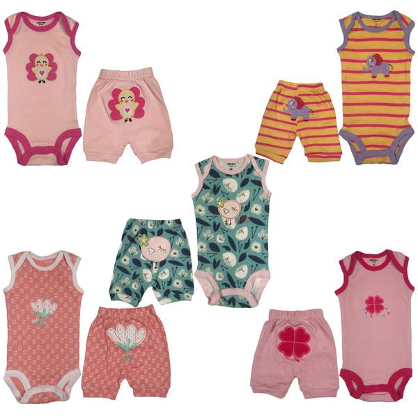 ست لباس نوزادی کارترز لاو مدل 10056-16 مجموعه 10عددی