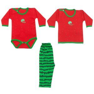 ست لباس نوزادی طرح یلدا کد 1