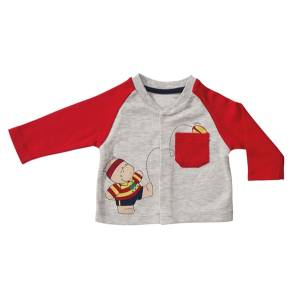 تیشرت آستین بلند نوزادی پولونیکس طرح راگبی مدل07
