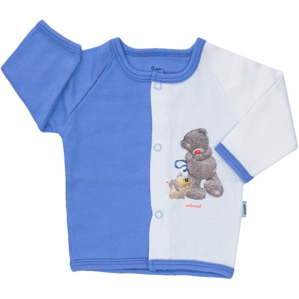 تونیک نوزادی آدمک طرح خرس پشمالو آبی