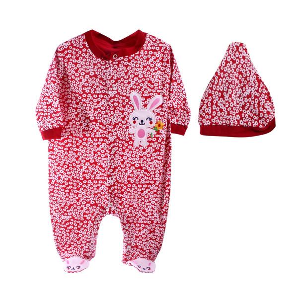 ست لباس نوزاد دو تیکه وچیون مدل گل گلی