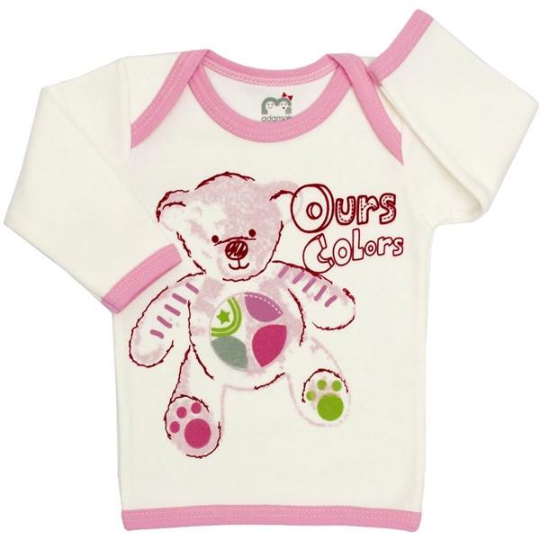 تی شرت آستین بلند نوزادی آدمک مدل تدی