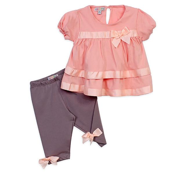 ست پیراهن و لگینگ نوزادی دخترانه زیروتن مدل 569472437800-116-A