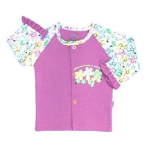 تونیک نوزادی آدمک طرح گلهای رنگارنگ