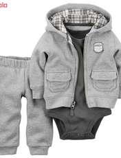 ست 3 تکه لباس نوزادی پسرانه کارترز کد 811 -  - 1