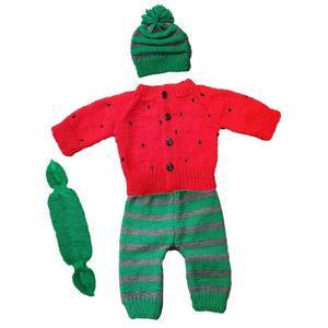 ست 4 تکه لباس نوزادی طرح یلدا کد 003