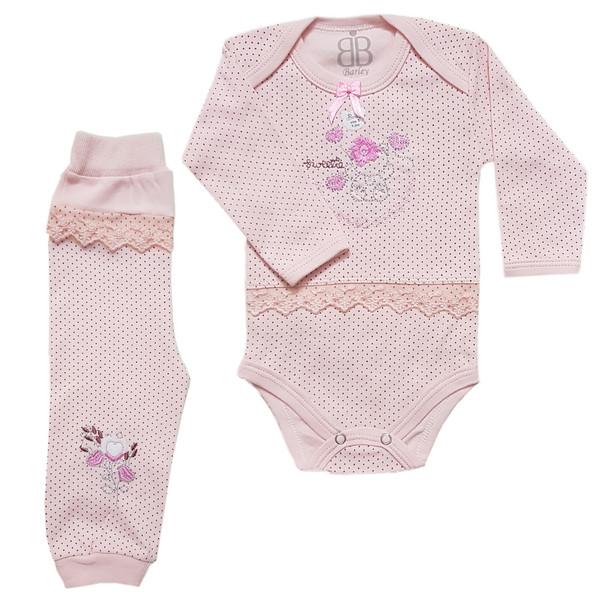 ست بادی و شلوار نوزادی دخترانه بارلی کد 001