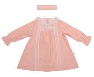 پیراهن نوزادی فیورلا مدل 3848 به همراه هدبند