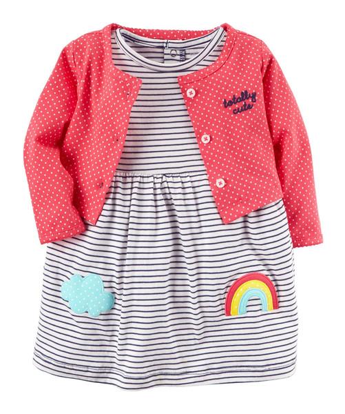 ست 2 تکه لباس نوزادی دخترانه کارترز مدل 835