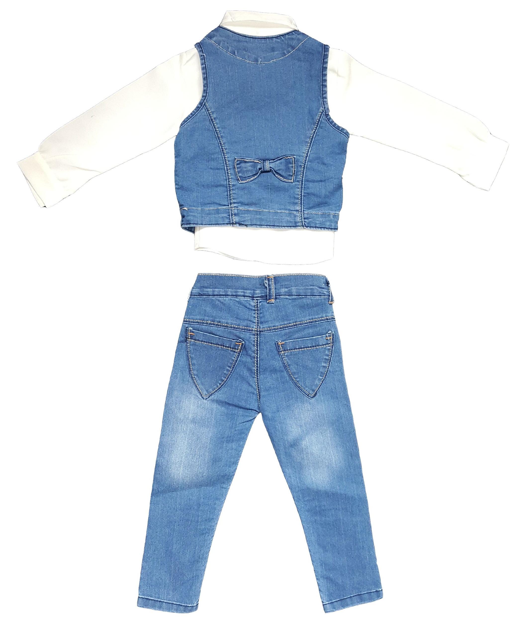 ست 3 تکه لباس دخترانه مدل BC2124