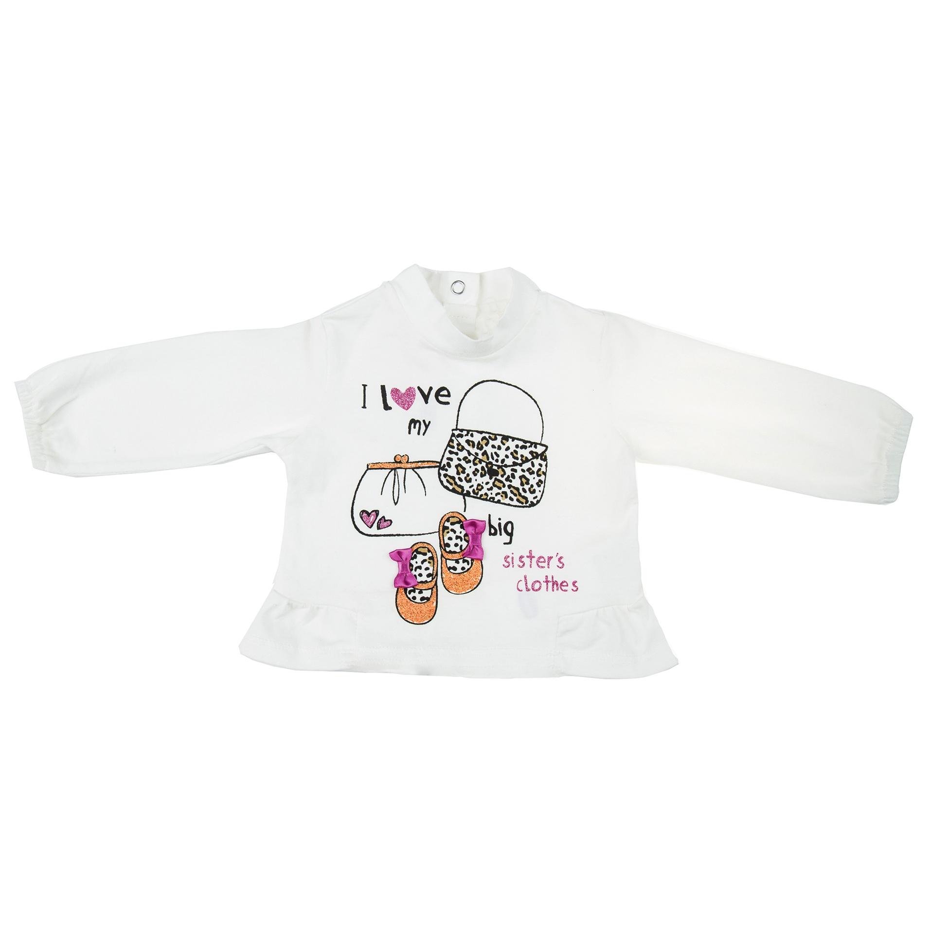 تی شرت نوزادی دخترانه چیکو 30-47809