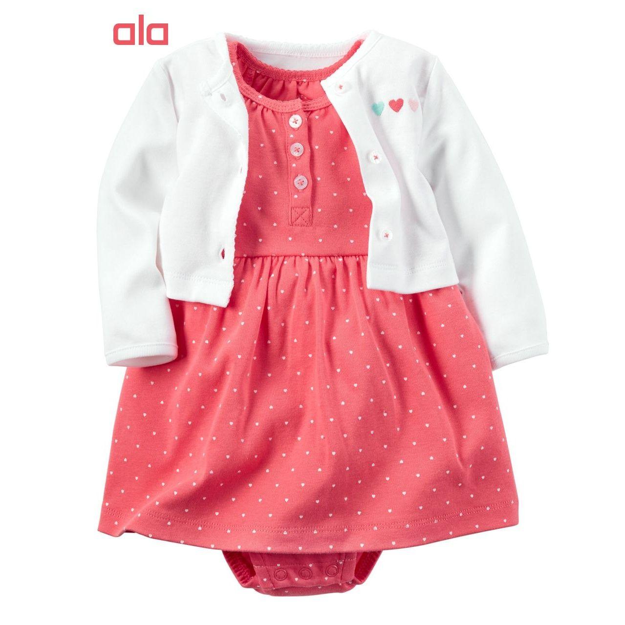 ست 2 تکه لباس نوزادی دخترانه کارترز مدل 840 -  - 1