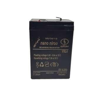 باتری یو پی اس 6 ولت 4.5 آمپر صبا باتری مدل SB