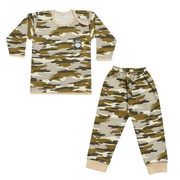 ست 2 تکه لباس نوزادی طرح چریکی کد 21