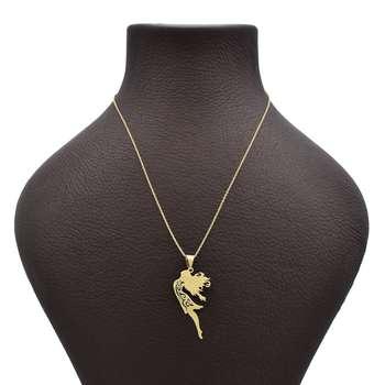 گردنبند طلا 18 عیار زنانه طرح دختر کد 625M331