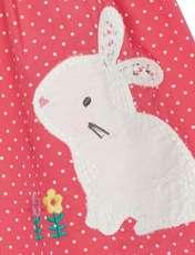 پیراهن نخی نوزادی دخترانه - بلوزو - سفيد و گلبهي - 3