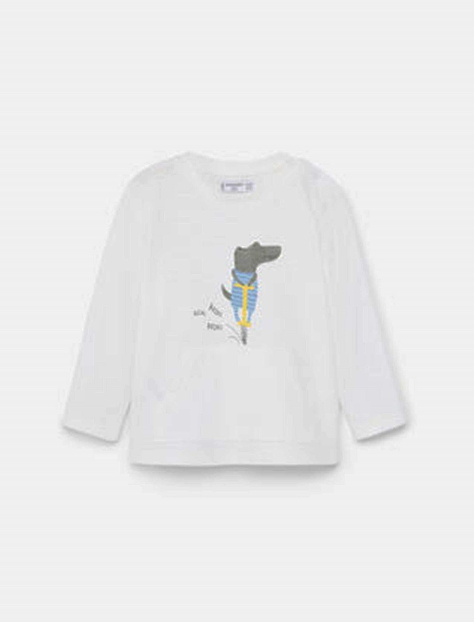 تی شرت نخی آستین بلند نوزادی - مانگو - سفيد - 1