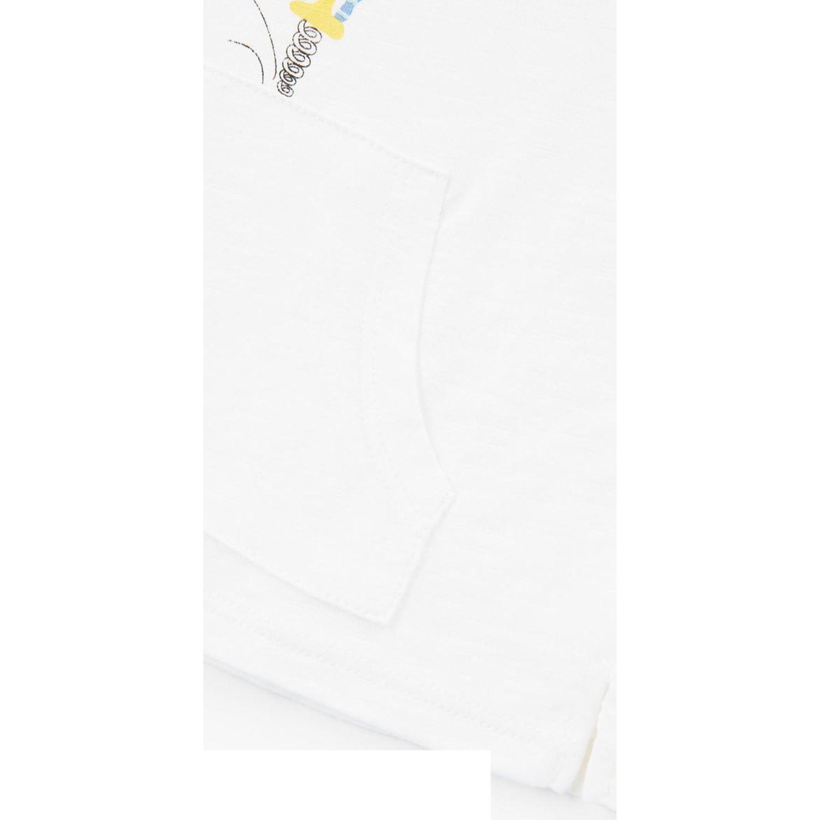 تی شرت نخی آستین بلند نوزادی - مانگو - سفيد - 3