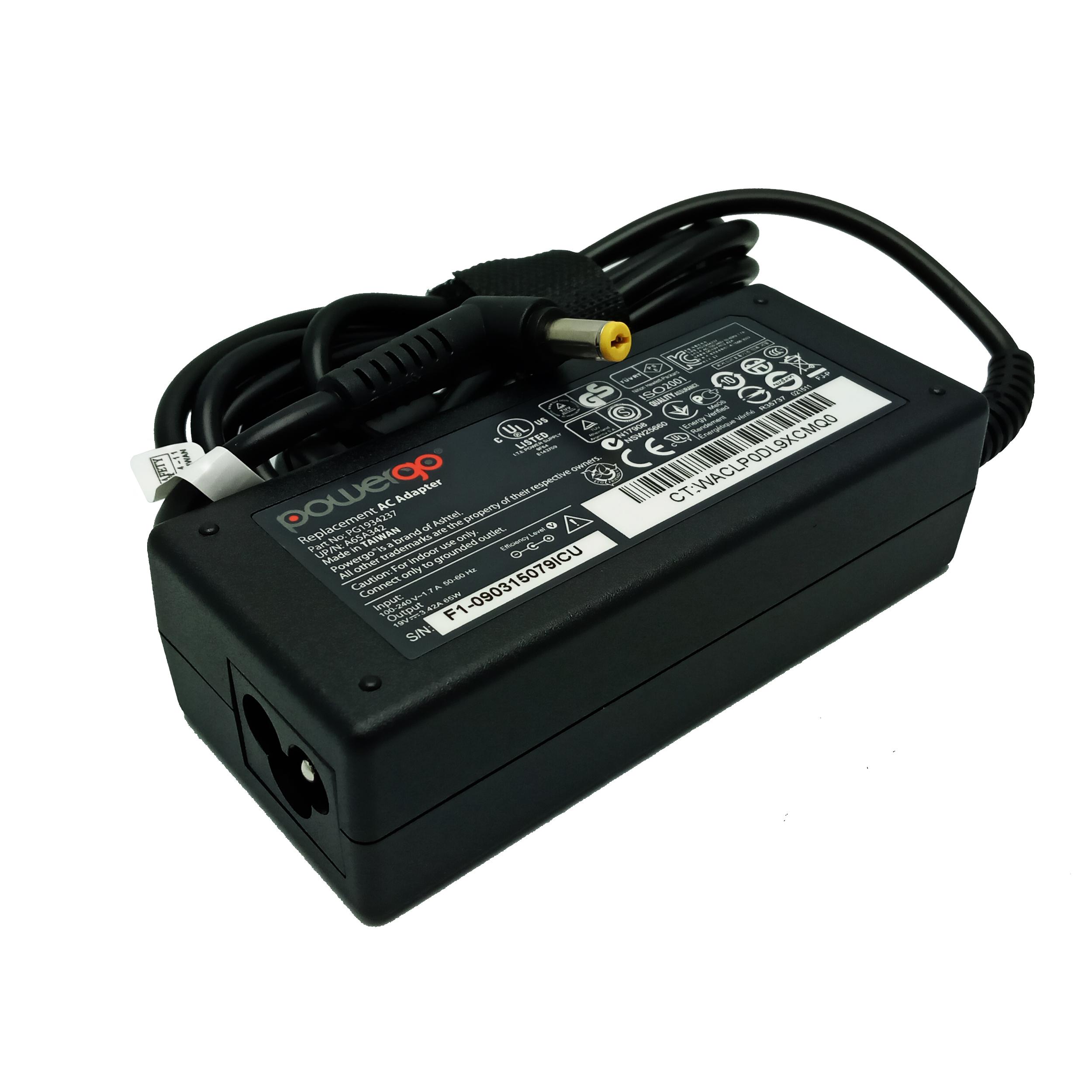 شارژر لپ تاپ 19 ولت 3.42 آمپر پاور گو مدل PWG-AC