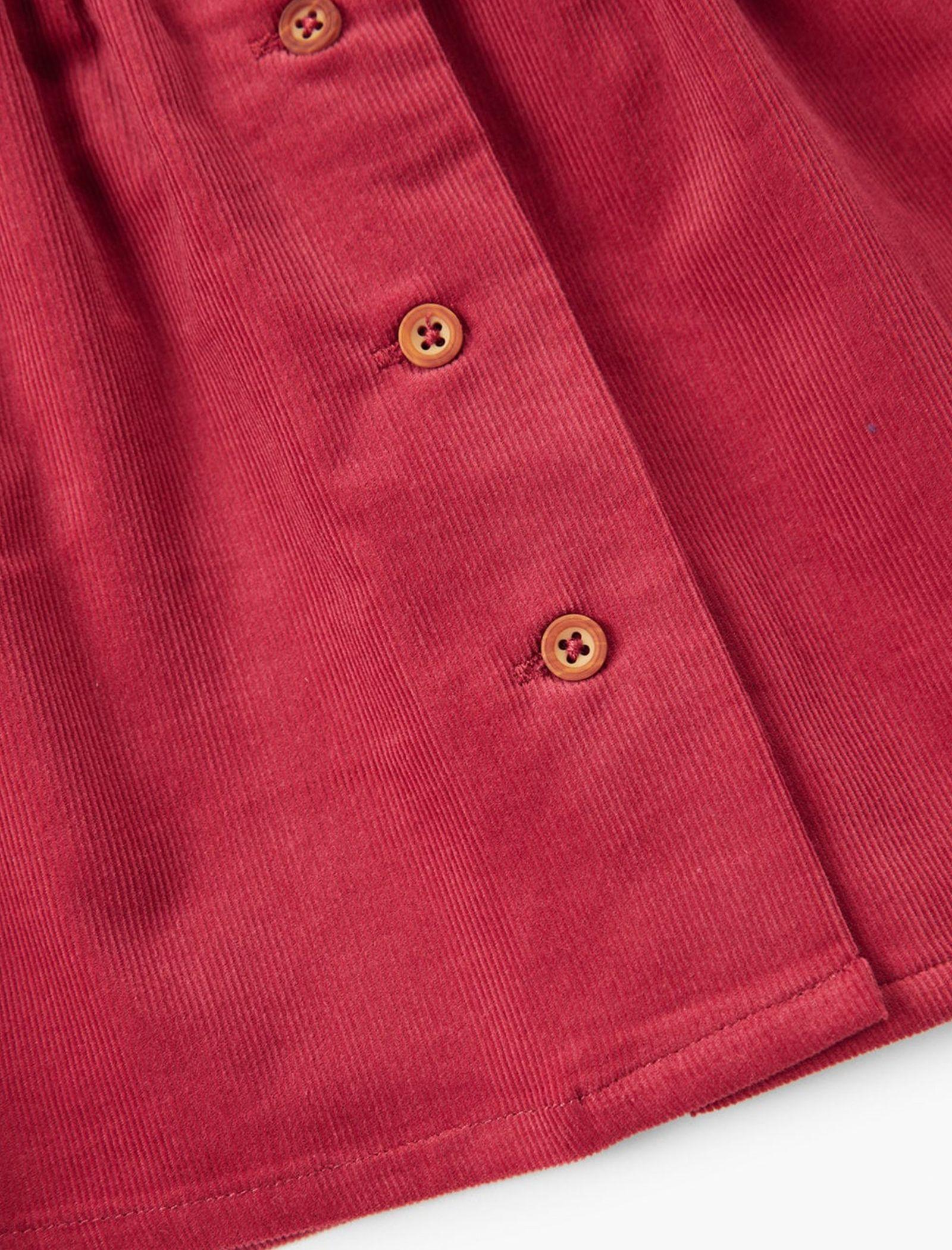 پیراهن نخی بدون آستین نوزادی دخترانه - مانگو - قرمز - 4