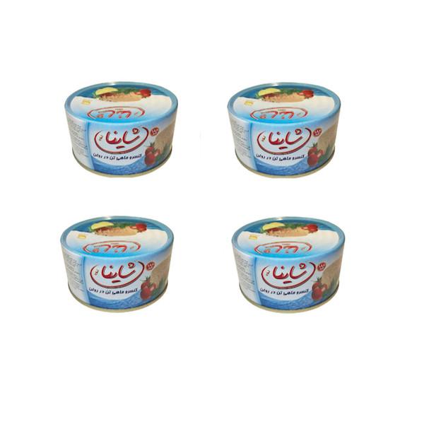 کنسرو ماهی تن شاینا مقدار 720 گرم مجموعه 4 عددی