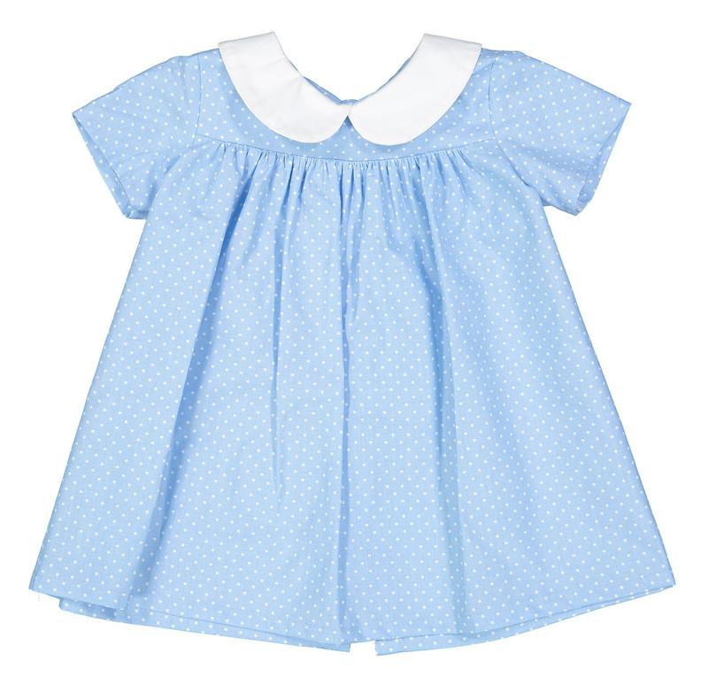 پیراهن نخی آستین کوتاه نوزادی دخترانه - دایان