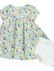 پیراهن و شورت نوزادی دخترانه - ارکسترا - سبز - 1