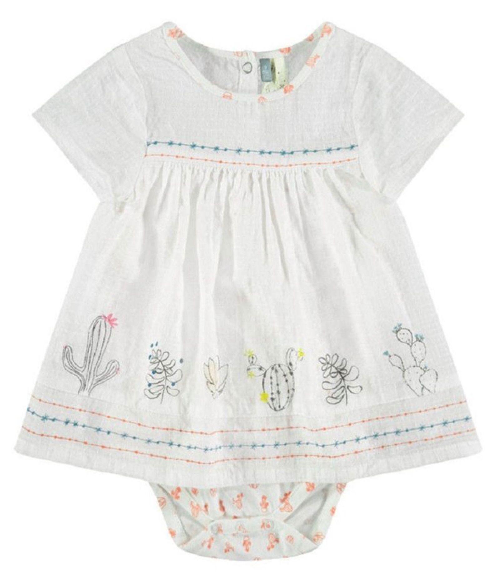 پیراهن و شورت نوزادی دخترانه - ارکسترا - سفید - 1