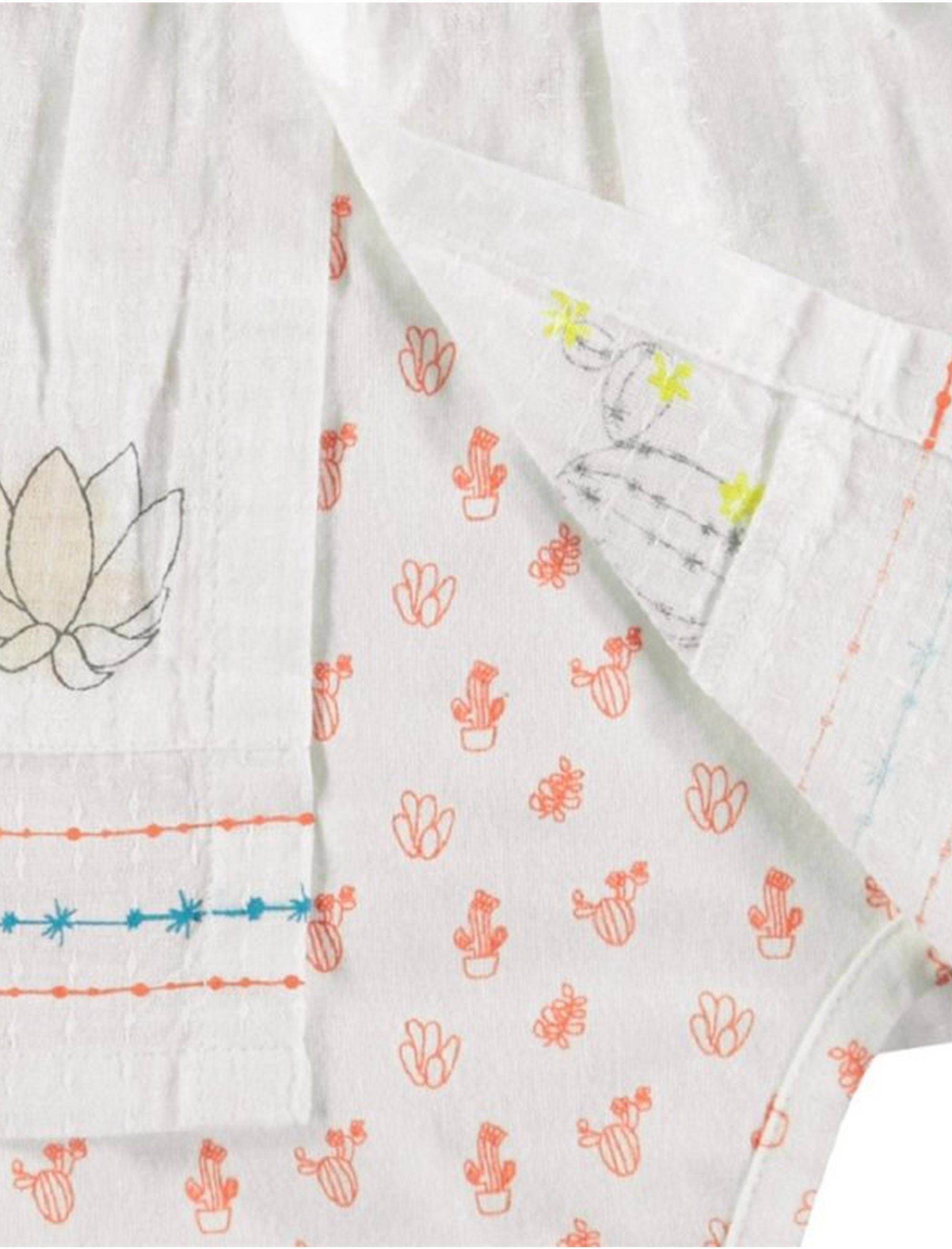 پیراهن و شورت نوزادی دخترانه - ارکسترا - سفید - 3
