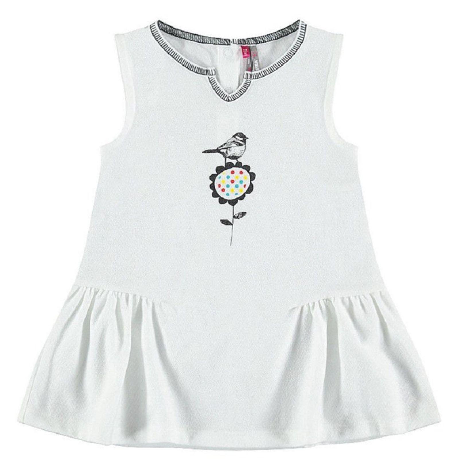 پیراهن نخی بدون آستین نوزادی - ارکسترا - سفيد - 1
