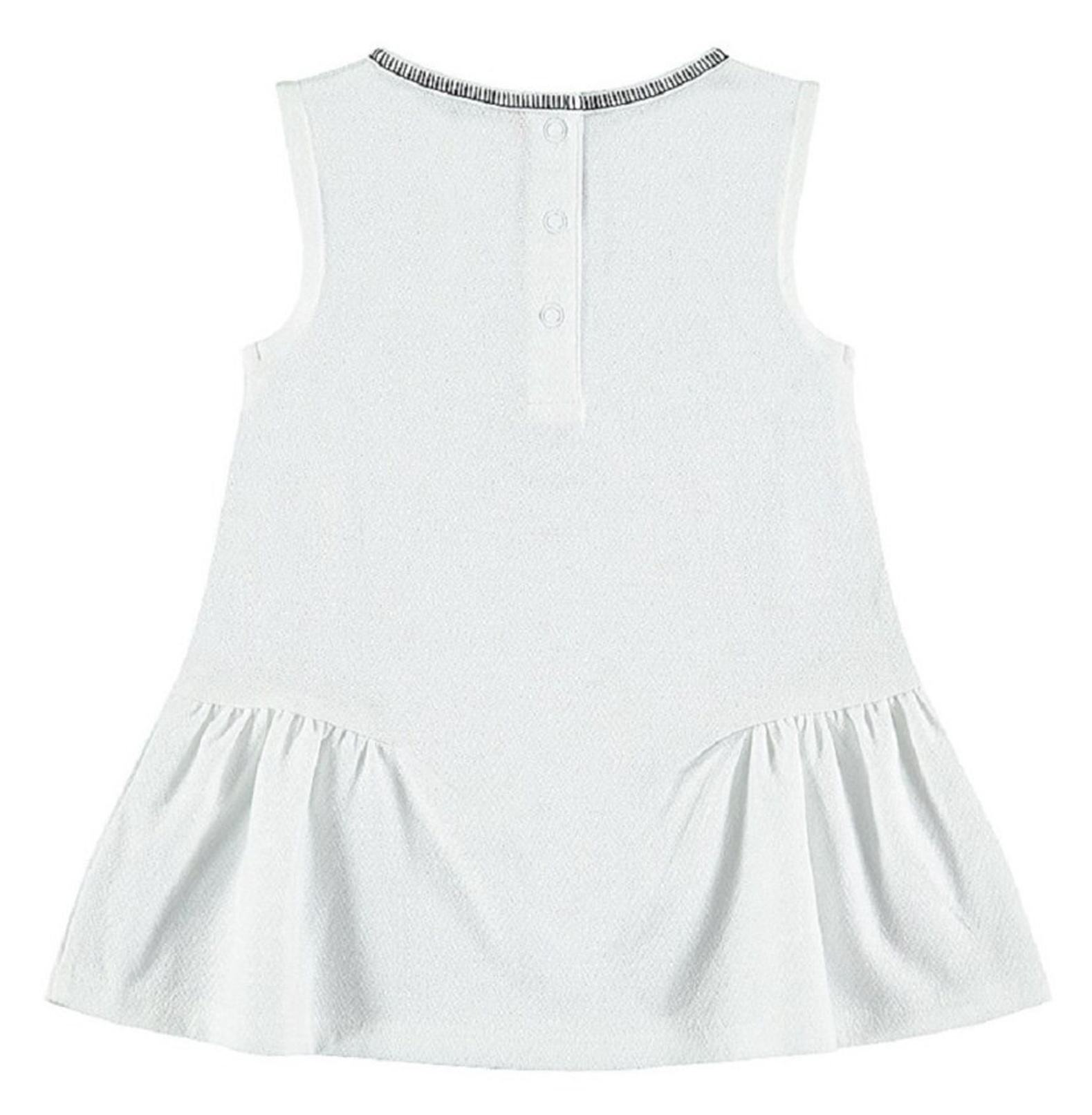 پیراهن نخی بدون آستین نوزادی - ارکسترا - سفيد - 2