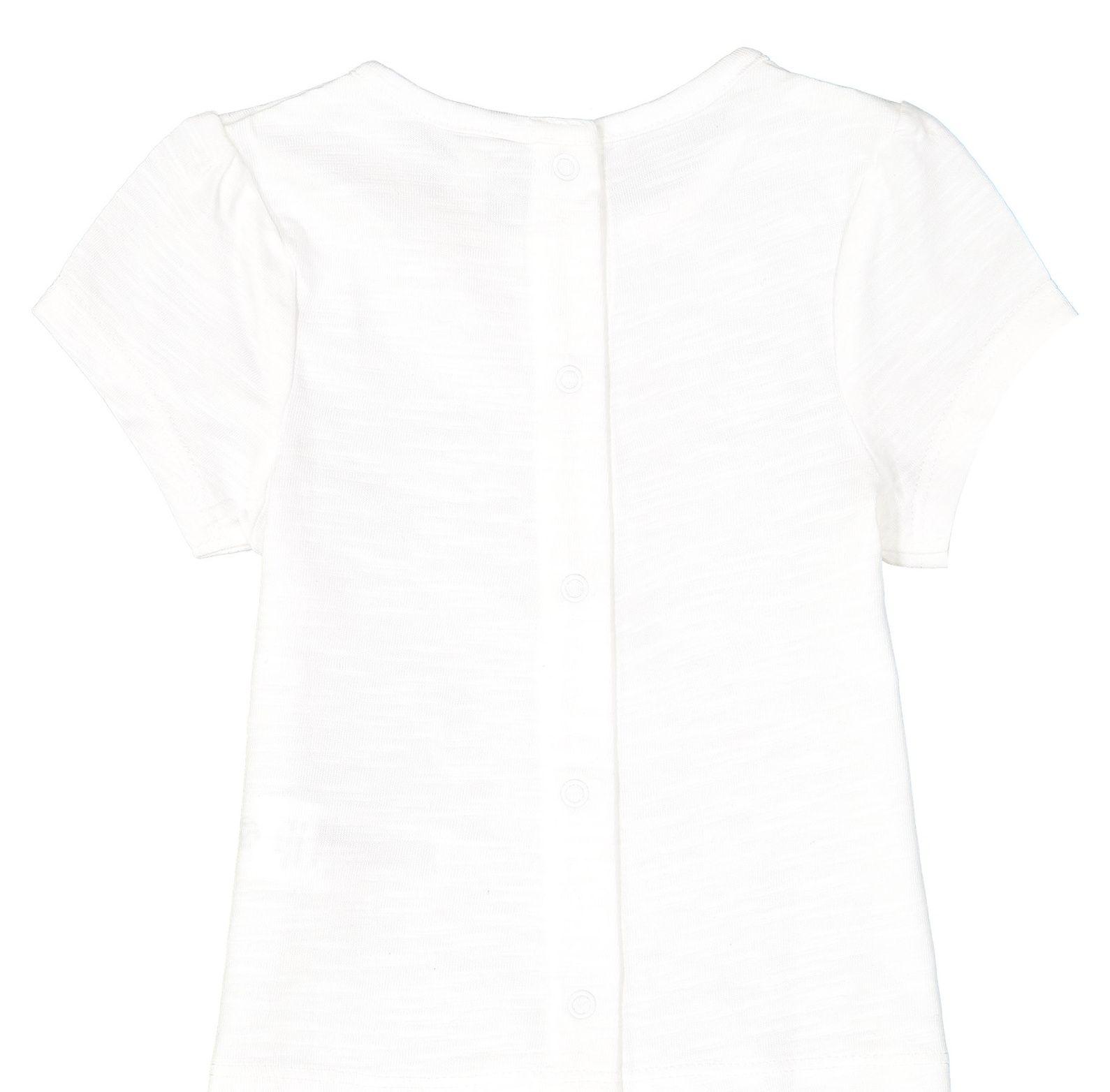 تی شرت و شلوار نخی نوزادی پسرانه - ارکسترا - سفيد - 3