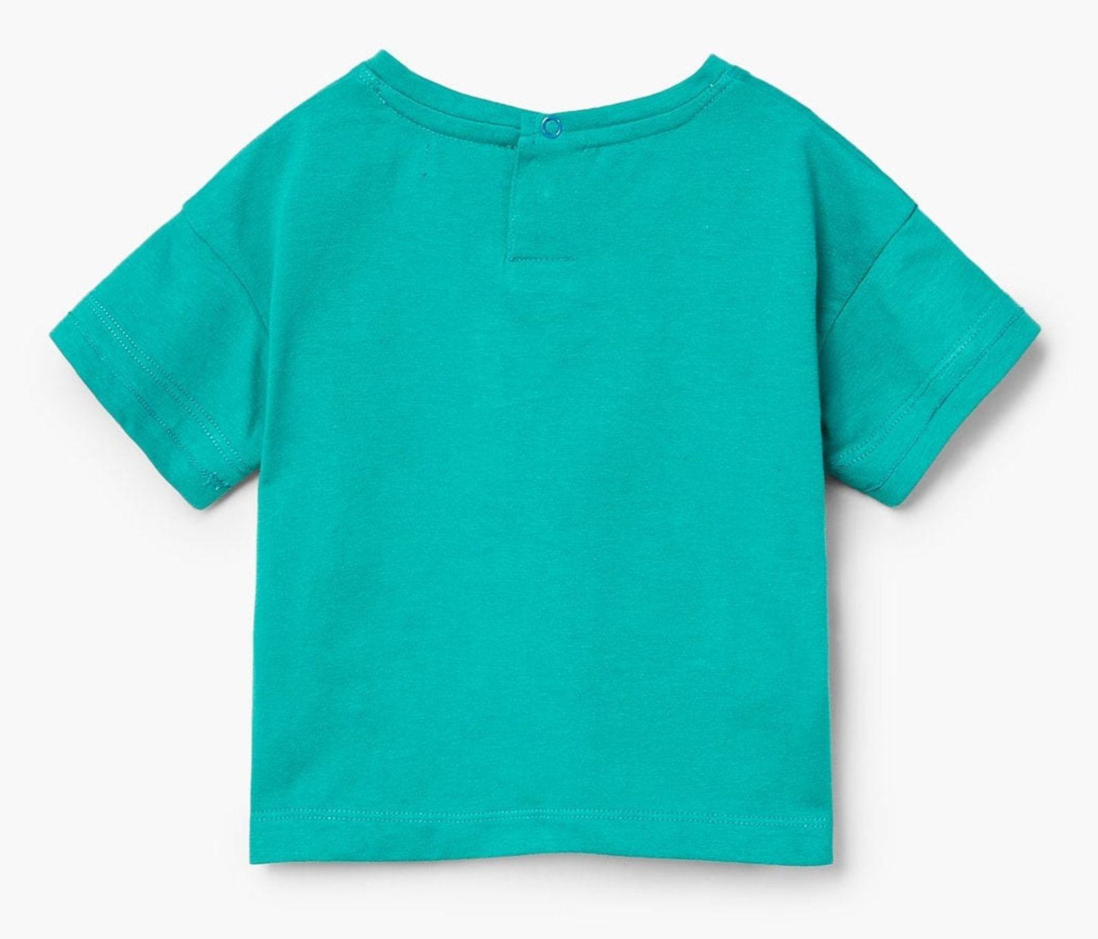 تی شرت نخی ساده نوزادی پسرانه - مانگو - سبز آبي - 2