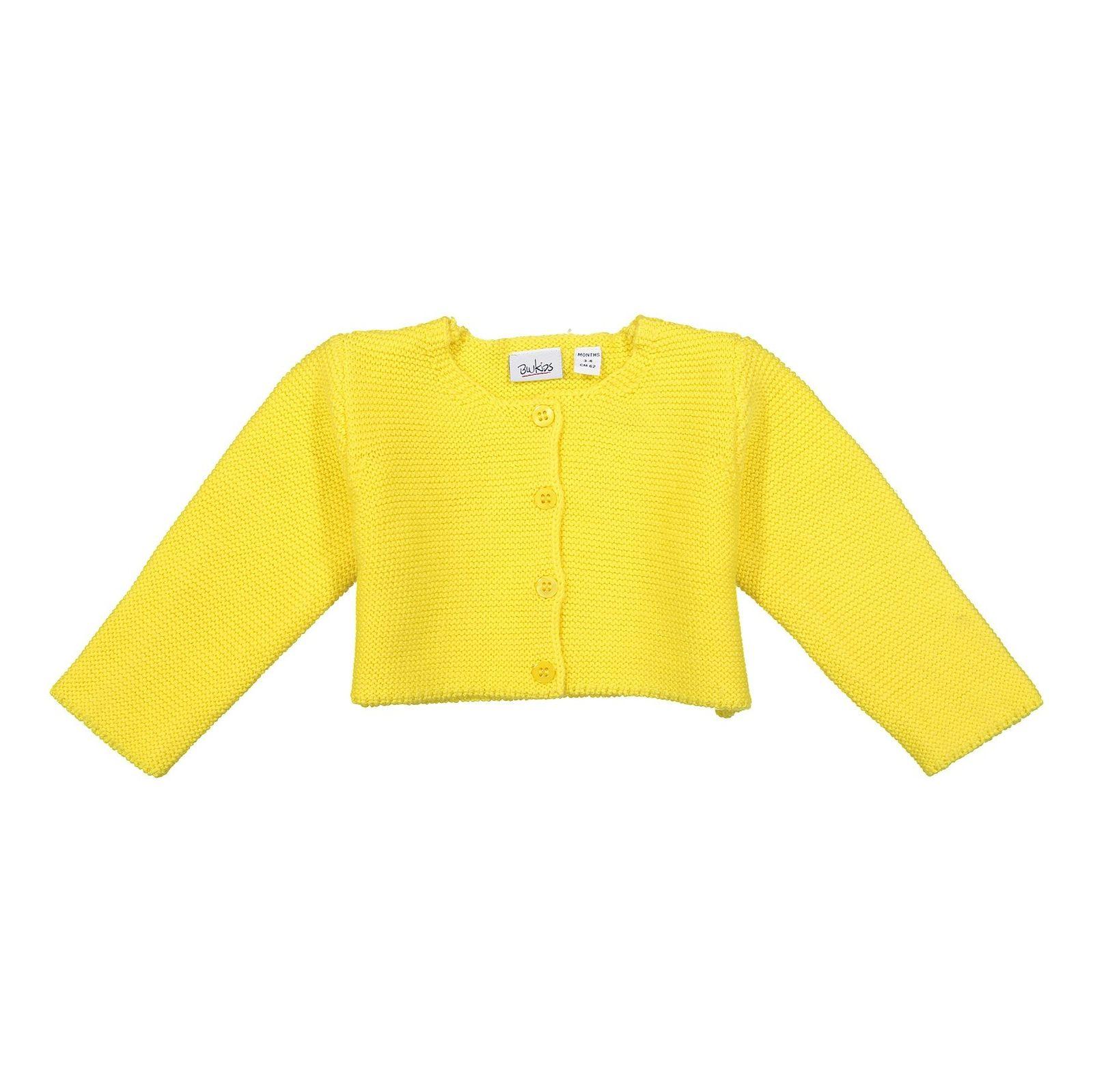 ژاکت نخی نوزادی دخترانه - بلوکیدز - زرد - 1