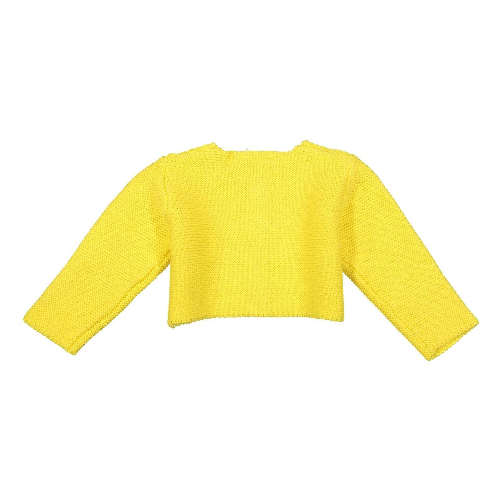 ژاکت نخی نوزادی دخترانه - بلوکیدز - زرد - 2