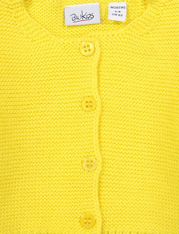 ژاکت نخی نوزادی دخترانه - بلوکیدز - زرد - 3