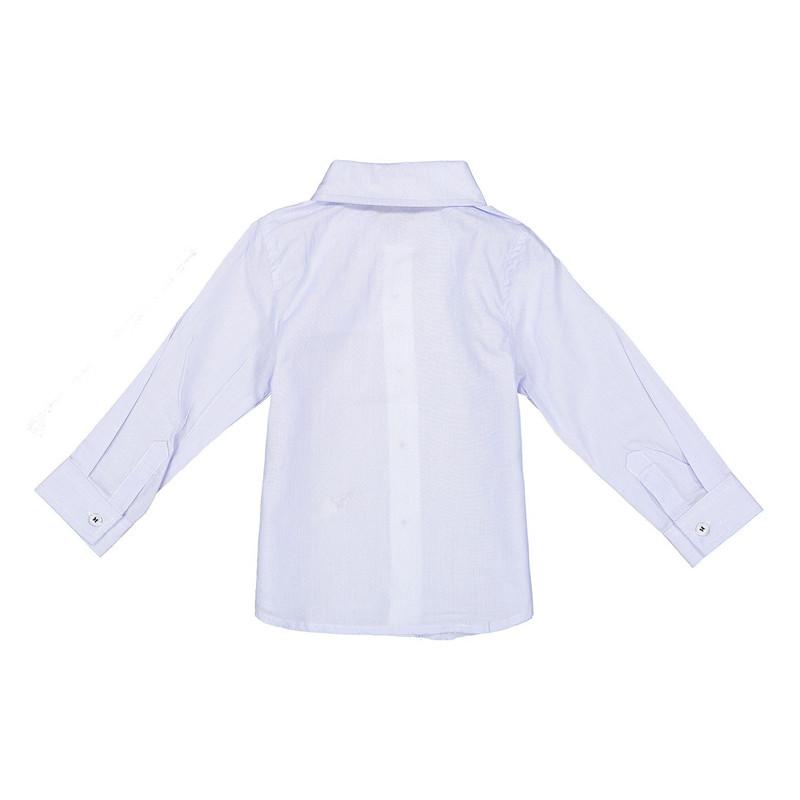 پیراهن نخی آستین بلند نوزادی پسرانه - ایدکس