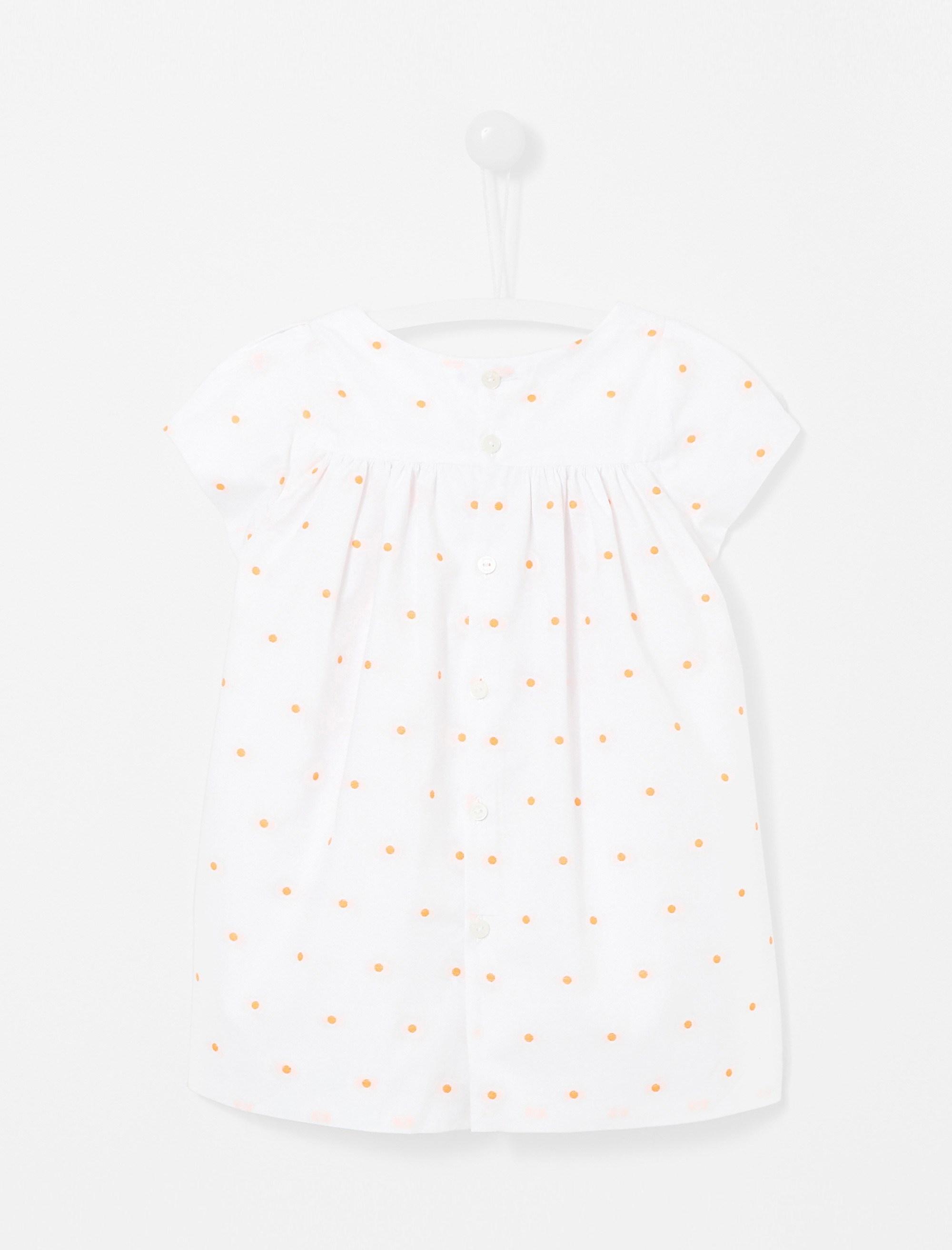 پیراهن نخی نوزادی دخترانه Lexiabis - جاکادی