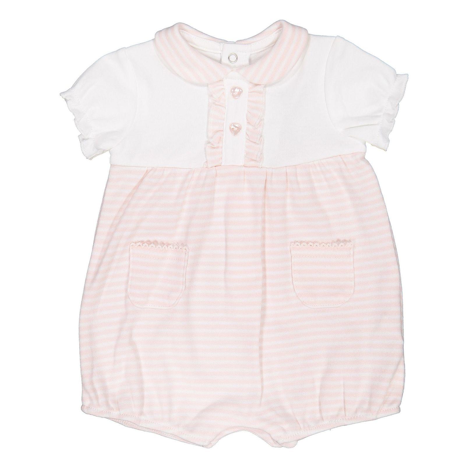 سرهمی نخی نوزادی دخترانه - بلوکیدز - سفید و صورتی - 1