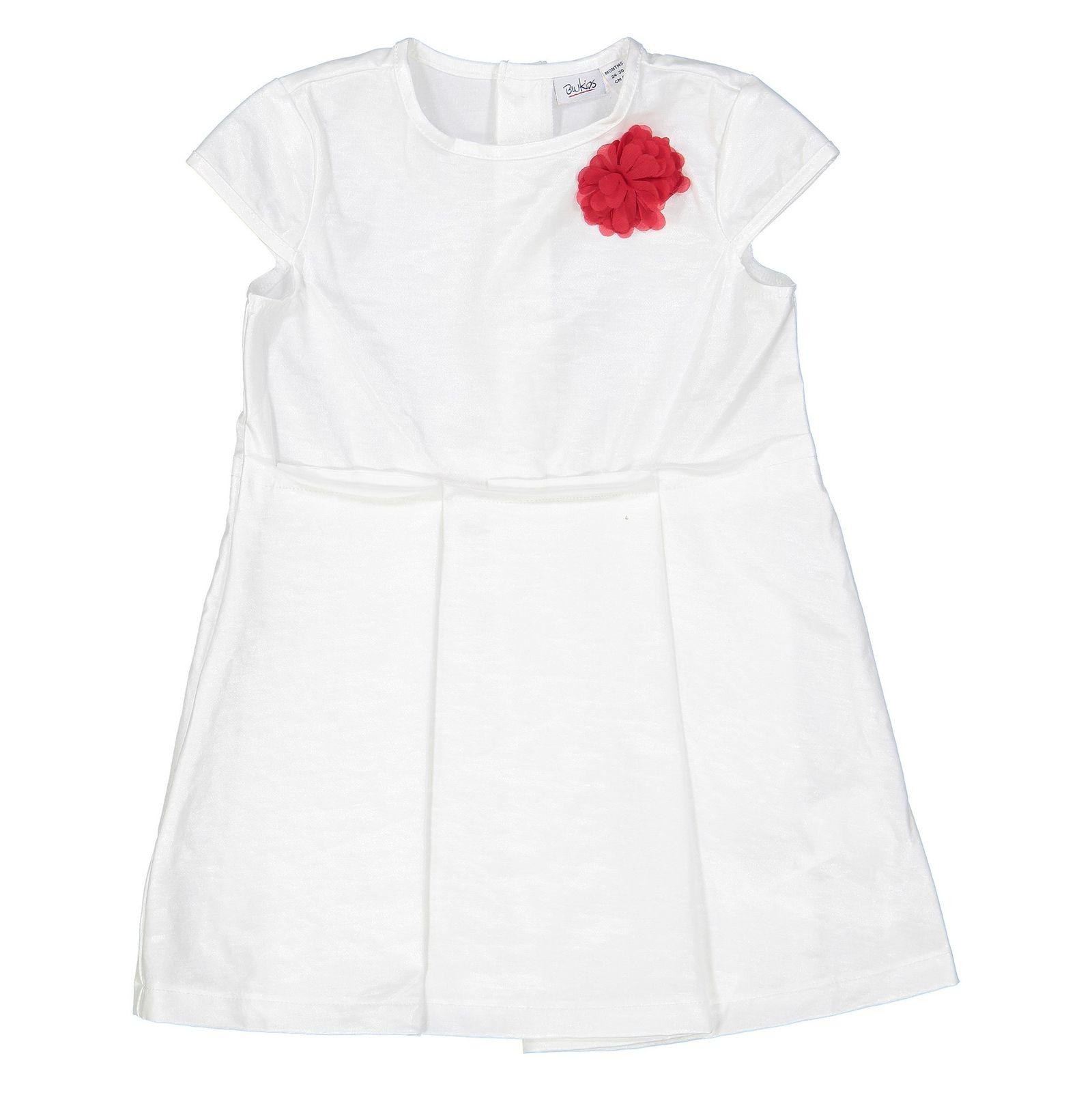 پیراهن آستین کوتاه نوزادی دخترانه - بلوکیدز - سفيد - 1