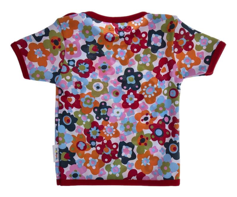 تی شرت نخی طرح دار نوزادی دخترانه - بی بی ناز