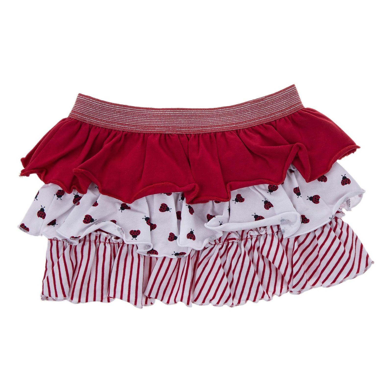 دامن نخی کوتاه نوزادی دخترانه - بلوکیدز - قرمز سفید - 1