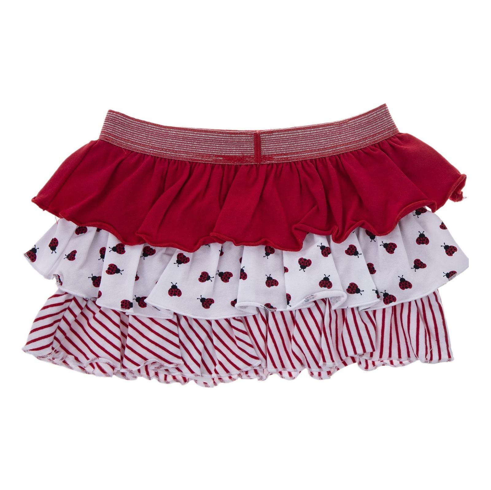 دامن نخی کوتاه نوزادی دخترانه - بلوکیدز - قرمز سفید - 2