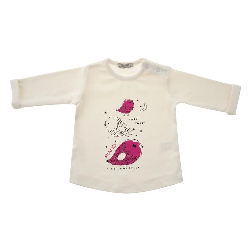 تی شرت و شلوار نخی نوزادی دخترانه - پیانو