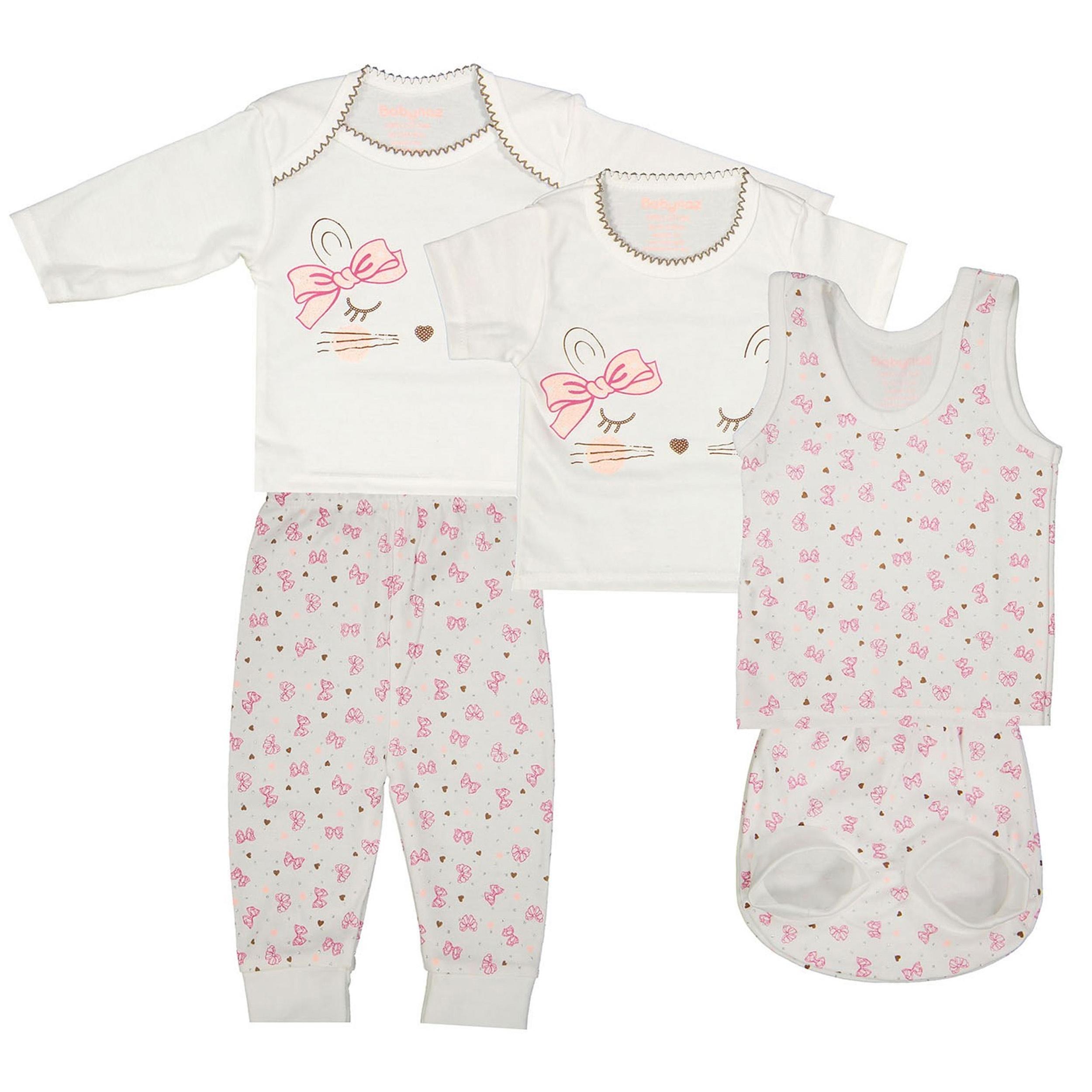 ست 5 تکه نوزادی دخترانه - بی بی ناز