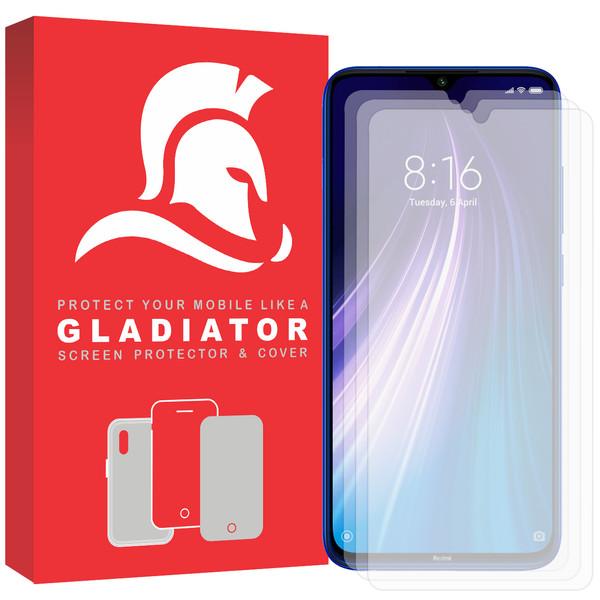 محافظ صفحه نمایش گلادیاتور مدل GLX3000 مناسب برای گوشی موبایل شیائومی Redmi Note 8 بسته سه عددی