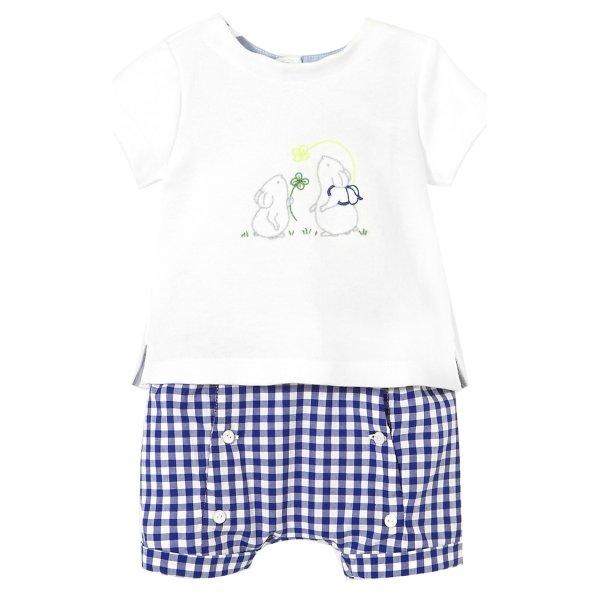 تی شرت و شلوارک نخی نوزادی پسرانه Let - جاکادی