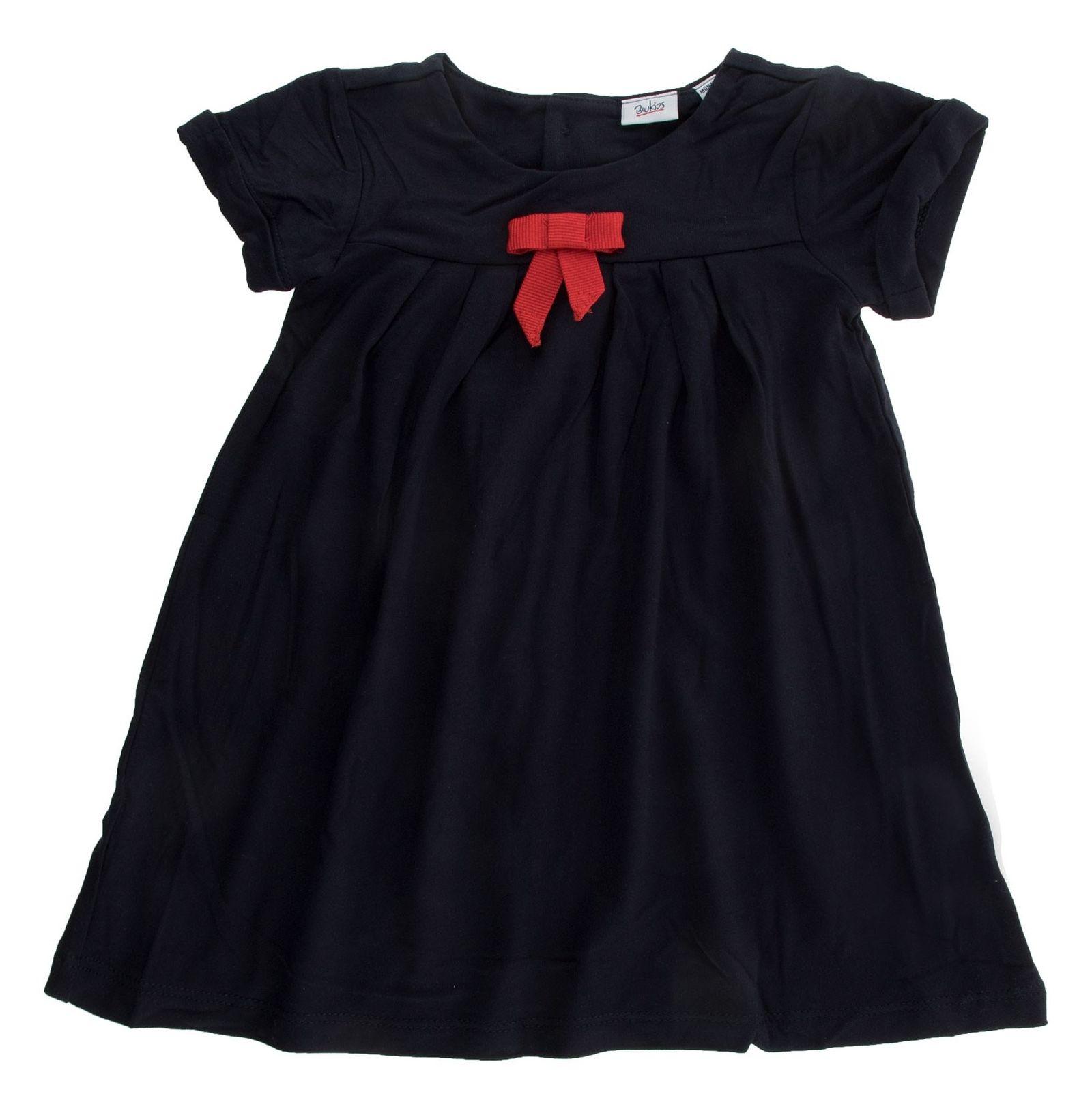 پیراهن ویسکوز نوزادی دخترانه - بلوکیدز - سرمه ای - 1