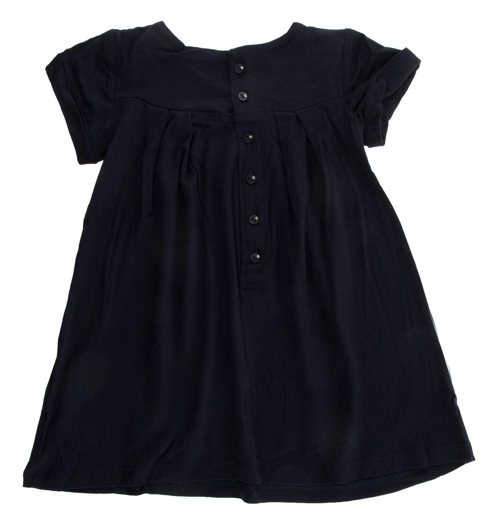 پیراهن ویسکوز نوزادی دخترانه - بلوکیدز - سرمه ای - 2
